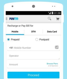 Paytm app for android/iOS