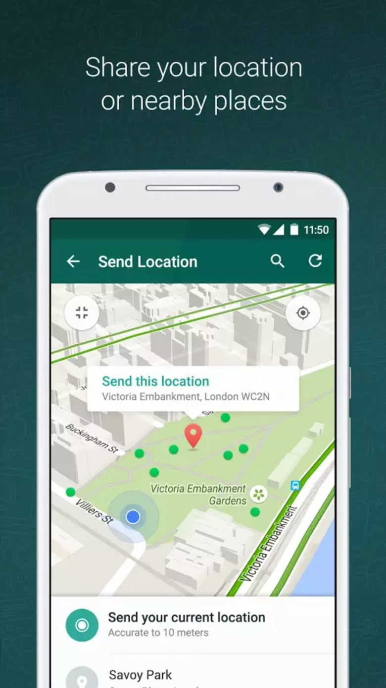 How to share your location with friends on WhatsApp pic source-Whatsapp