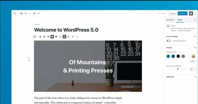 Wordpress Gutenberg Editor